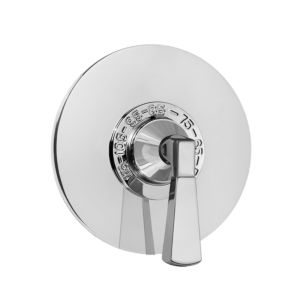 "3/4"" Thermostatic Set with Harlow Handle and 9"" Round Contemporary Plate (available as trim only 1.086097DT)"
