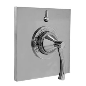 """1/2"""" Thermostatic Shower Set with Maya Handle and One Volume Control and Square Contemporary Plate (available as trim only P/N: 1.058096.V1T)"""