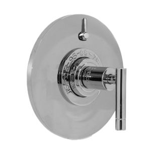 "1/2"" Thermostatic Shower Set with Polaris II Handle and Round Contemporary Plate with One Volume Control (available as trim only P/N: 1.074996.V1T)"