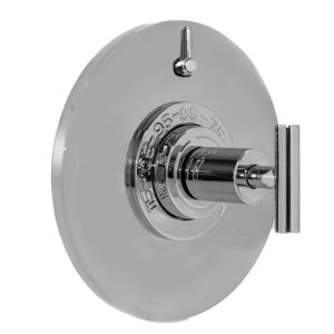 "1/2"" Thermostatic Shower Set with Ceres II Handle and Round Contemporary Plate with One Volume Control (available as trim only P/N: 1.075096.V1T)"