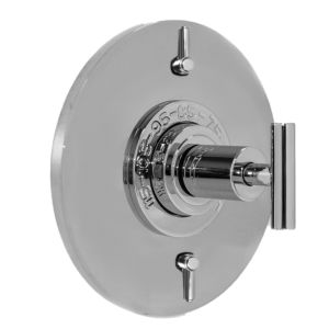 "1/2"" Thermostatic Shower Set with Ceres II Handle and Round Contemporary Plate with Two Volume Controls (available as trim only P/N: 1.075096.V2T)"