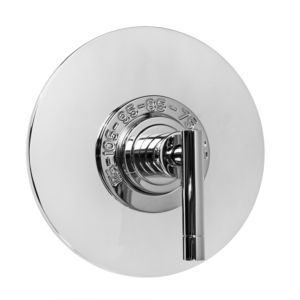 "3/4"" Thermostatic Shower Set with Polaris II Handle and Round Contemporary Deluxe Plate (available as trim only P/N: 1.084997DT)"