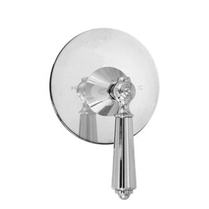 E-Mini Thermostatic with Round plate - Trim only with Aria handle