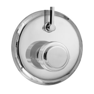 E-Mini Thermostatic - Integrated Round Plate - Trim only with Seville handle