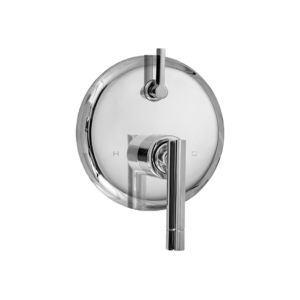 E-Mini Thermostatic - Integrated Round Plate - Trim only with Palermo handle