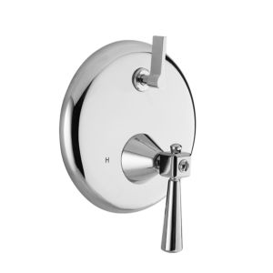 E-Mini Thermostatic - Integrated Round Plate - Trim only with Regent Handle