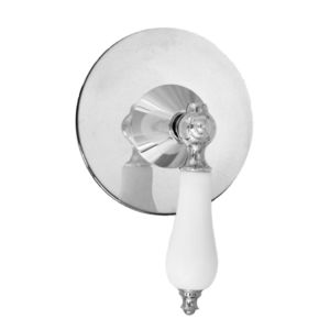 E-Mini Thermostatic with Round plate - Trim only with Orleans handle