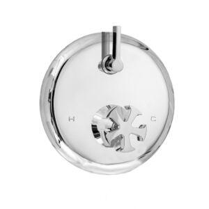 E-Mini Thermostatic Trim - Integrated Round Plate Spoke Handle