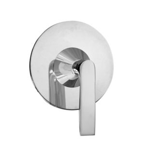 E-Mini Thermostatic with Round plate - Trim only with Lisse handle