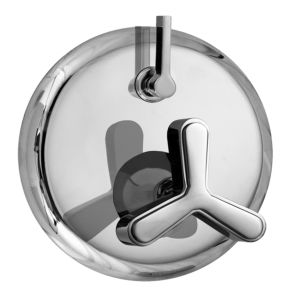 E-Mini Thermostatic - Integrated Round Plate - Trim only with Moderne-X handle