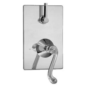 E-Mini Thermostatic - Integrated Rectangle Plate - Trim only with Charlotte handle