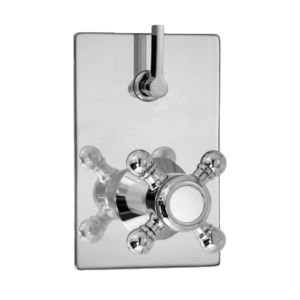 E-Mini Thermostatic - Integrated Rectangle Plate - Trim only with Alexandria handle