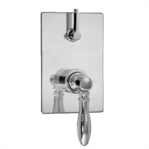 E-Mini Thermostatic - Integrated Rectangle Plate - Trim only with Huntington handle
