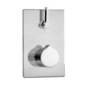 E-Mini Thermostatic - Integrated Rectangle Plate - Trim only with Nuance handle