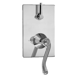 E-Mini Thermostatic - Integrated Rectangle Plate - Trim only with Devon handle