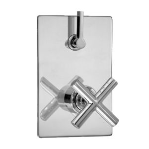 E-Mini Thermostatic - Integrated Rectangle Plate - Trim only with Nova II handle