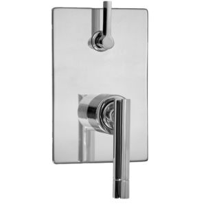 E-Mini Thermostatic - Integrated Rectangle Plate - Trim only with Polaris II handle