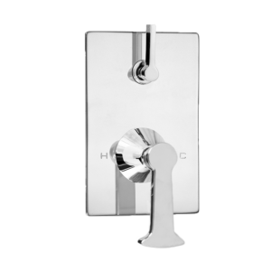 E-Mini Thermostatic Trim - Integrated Control - Rectangle Plate with Piston Handle