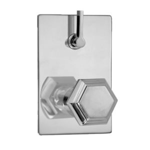 E-Mini Thermostatic - Integrated Rectangle Plate - Trim only with Alicante handle