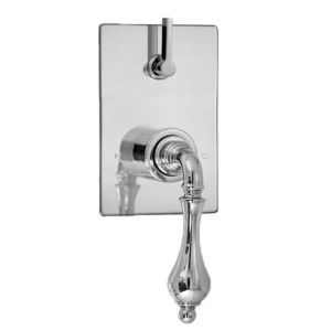 E-Mini Thermostatic - Integrated Rectangle Plate - Trim only with Houston handle