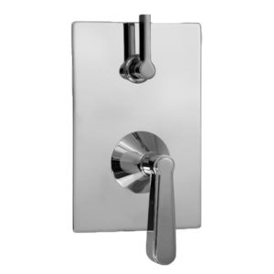 E-Mini Thermostatic - Integrated Rectangle Plate - Trim only with Moderne handle