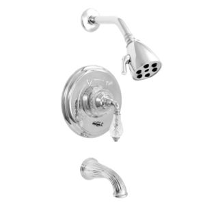 3200 Series Pressure Balance Tub and Shower Set with Luxembourg Handle (available as trim only P/N: 1.326568DT)