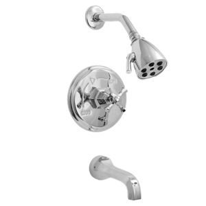 720 Series Pressure Balance Tub and Shower Set with Mallorca Handle (available as trim only P/N: 1.727568T)