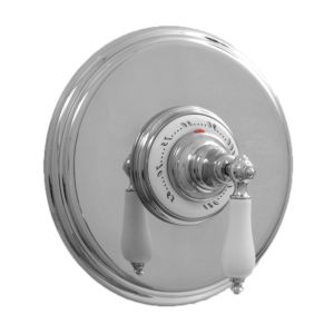 """3/4"""" Round Deluxe Thermostatic Shower Set with 485 Handle (available as trim only P/N: 7.0448597DT)"""