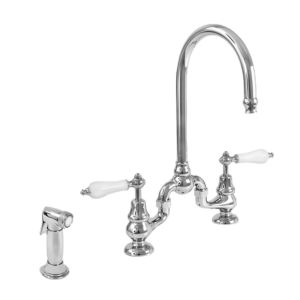 Sancerre Bridge Kitchen Faucet with Side spray and 485 Handle