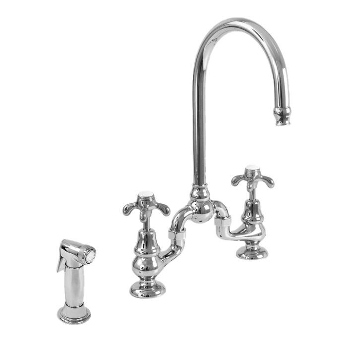 Sancerre Bridge Kitchen Faucet With Side Spray And 481 Handle