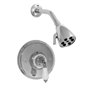 Pressure Balance Shower Set with Venezia Handle shown with White Carrara Marble (available as trim only P/N: 1.002564DT)
