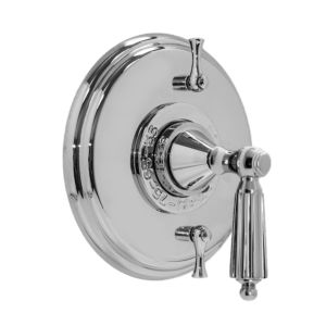 """1/2"""" Thermostatic Shower Set with Georgian Handle and Two Volume Controls (available as trim only P/N: 1.004196.V2T)"""