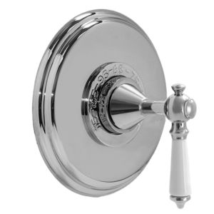 """3/4"""" Thermostatic Shower Set - Deluxe Plate with Waldorf Handle"""