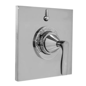 """1/2"""" Thermostatic Shower Set with Lisse handle and One Volume Control and Square Contemporary Plate (available as trim only) P/N: 1.058396.V1T)"""