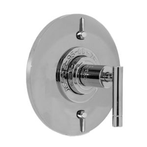 "1/2"" Thermostatic Shower Set with Polaris II Handle and Round Contemporary Plate with Two Volume Controls (available as trim only P/N: 1.074996.V2T)"