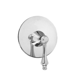 E-Mini Thermostatic with Round plate - Trim only with Lexington handle