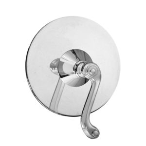 E-Mini Thermostatic with Round plate - Trim only with Charlotte handle