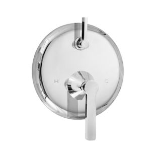 E-Mini Thermostatic Trim with Integral Control - Round Plate with Tribeca Handle