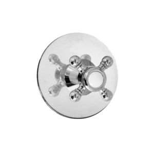 E-Mini Thermostatic with Round plate - Trim only with Alexandria handle