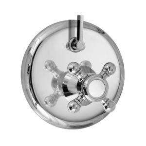 E-Mini Thermostatic - Integrated Round Plate - Trim only with Alexandria handle