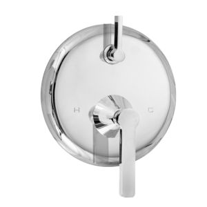 E-Mini Thermostatic - Integrated Round Plate - Trim only with Carina handle