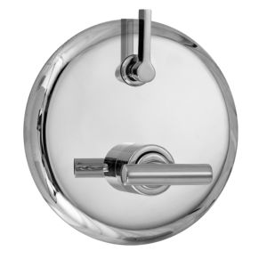 E-Mini Thermostatic Trim - Integrated Round Plate with Ceres II Handle
