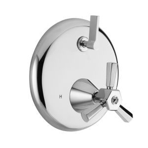 E-Mini Thermostatic - Integrated Round Plate - Trim only with Regent X Handle