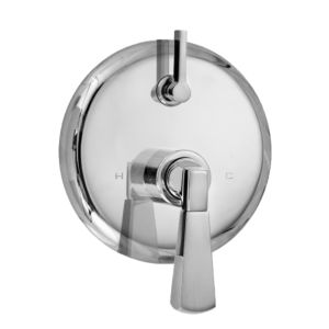 E-Mini Thermostatic - Integrated Round Plate - Trim only with Harlow handle
