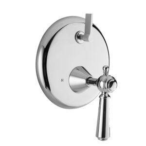 E-Mini Thermostatic - Integrated Round Plate - Trim only with Tremont Handle.