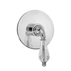 E-Mini Thermostatic with Round plate - Trim only with Portofino handle