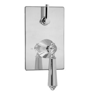 E-Mini Thermostatic - Integrated Rectangle Plate - Trim only with Aria Handle