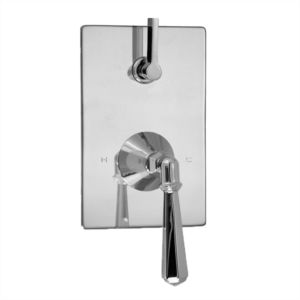 E-Mini Thermostatic - Integrated Rectangle Plate - Trim only with Windham handle