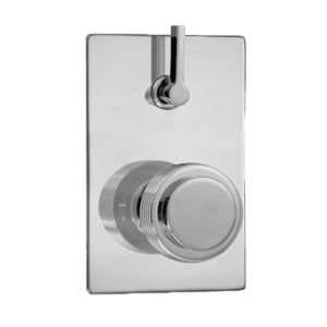E-Mini Thermostatic - Integrated Rectangle Plate - Trim only with Seville handle