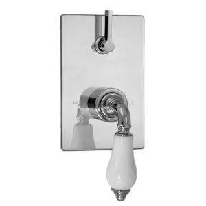 E-Mini Thermostatic - Integrated Rectangle Plate - Trim only with Venezia handle